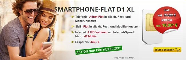 Allnet-Flat mit 4 GB im Telekom-Netz