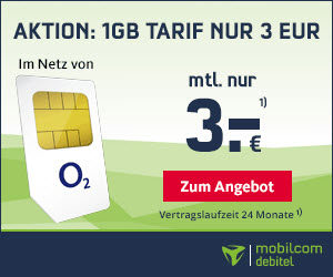 Smart Surf Special-Deal: o2 Surf-Flat mit 1 GB LTE nur 3,- Euro