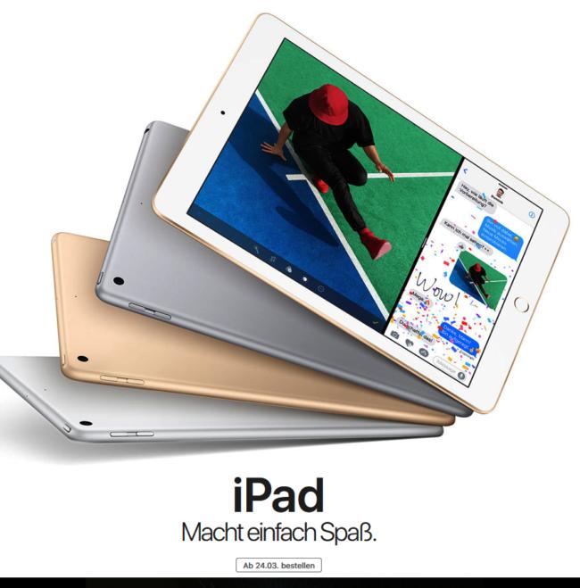 Apple iPad ab 24. März bestellen