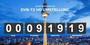 DVB-T2 HD Umstellung beginnt um 00:00 Uhr
