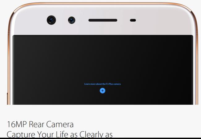 Oppo F3 Plus mit Selfie Dual Kamera