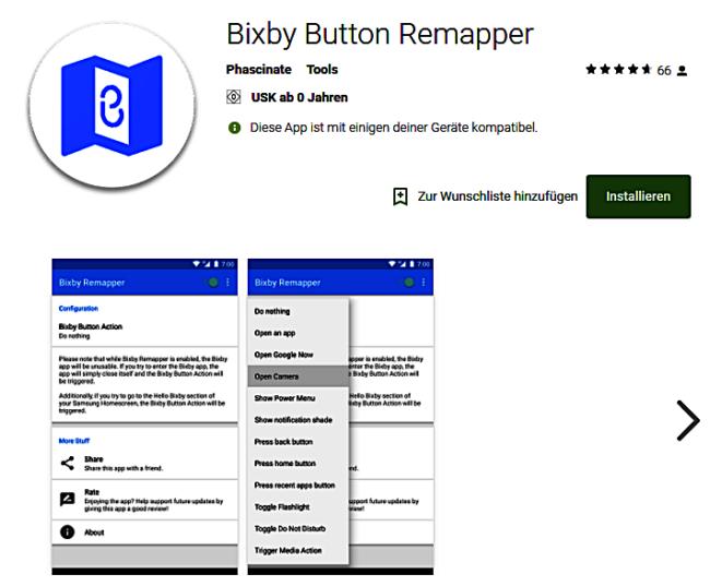 S8 Bixby Button Neu Belegen