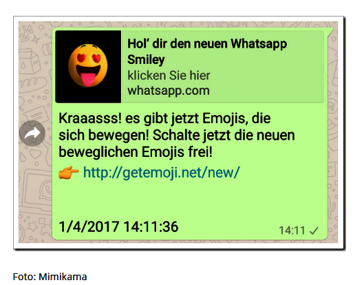 WhatsApp Kettenbrief Quelle Mimilkama at