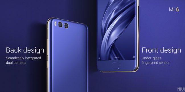 Xiaomi Mi 6 Bild Hersteller