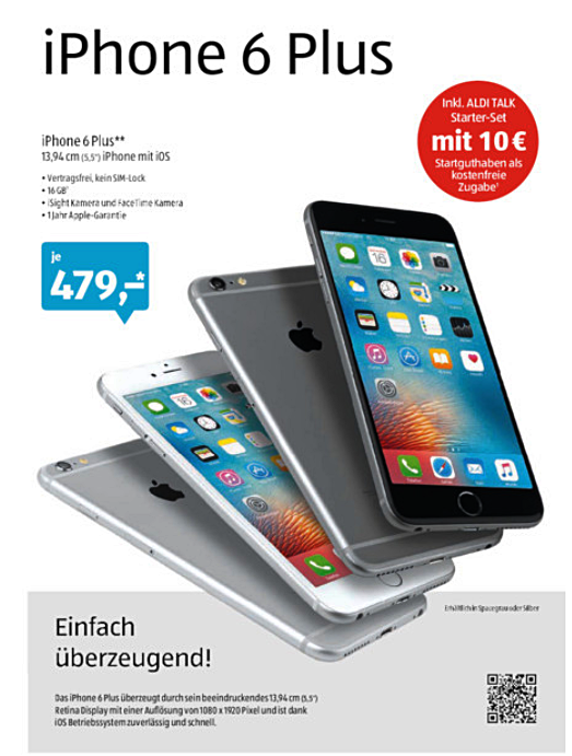 iPhone 6 Plus bei Aldi Süd