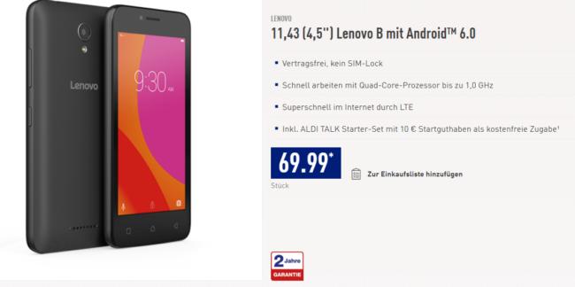 Lenovo B bei Aldi Nord im Angebot