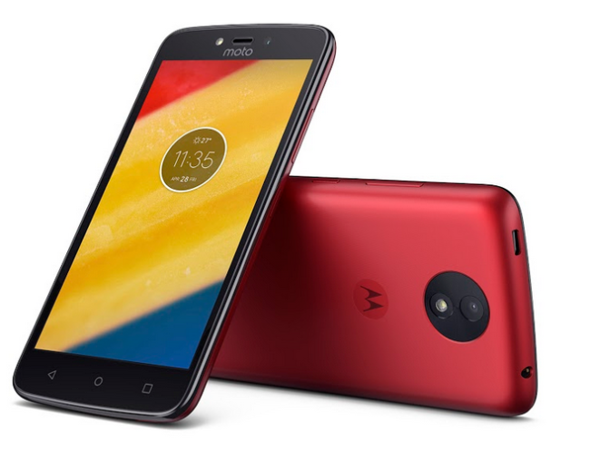 Moto C Plus in Metallic Cherry