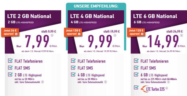 Yourfone Startet Neue National Tarife 4 Gb Und 6 Gb Lte Mobilfunk