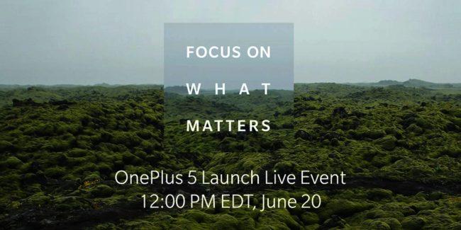 OnePlus 5 Launch OnePlus über Twitter