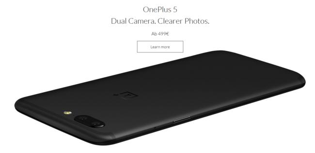 OnePlus 5 Rückseite