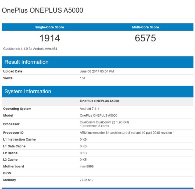 OnePlus 5 im Geekbench