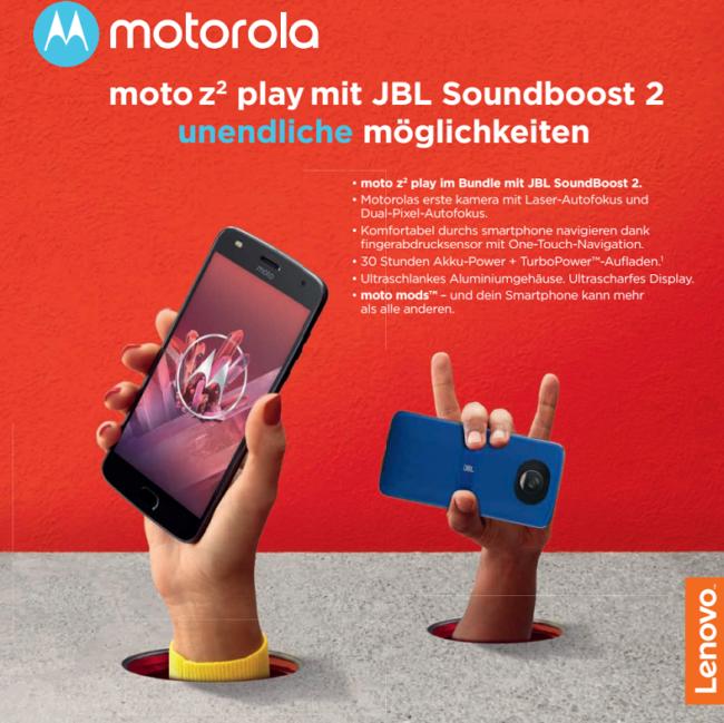Motorola z2 Play mit JBL Soundboost