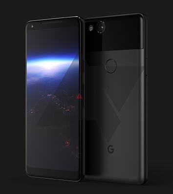 Pixel 2 XL Renderbild von AndroidPolice
