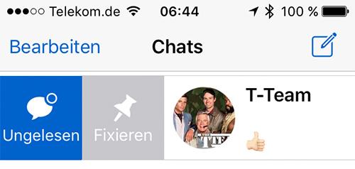 WhatsApp Chats anpinnen Bild iPhoneticker