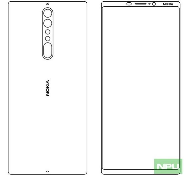 Mutmaßliche Nokia 9 Maße Bild NPU