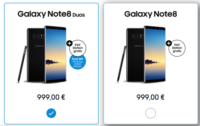 Note 8 mit gratis DeX Station