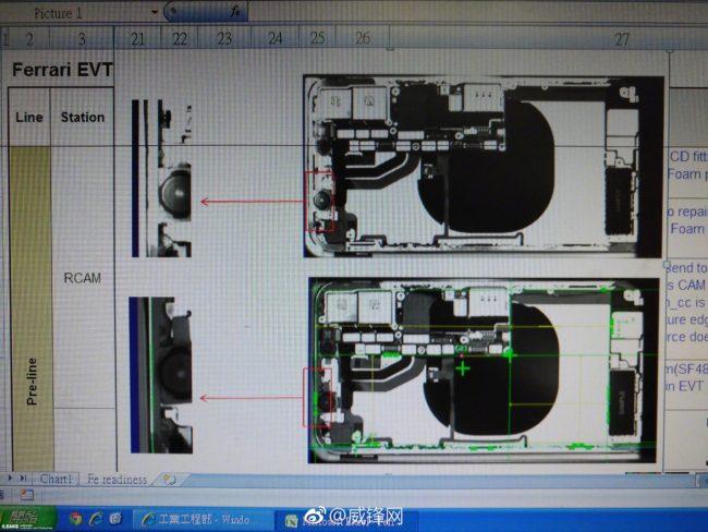 iPhone 8 oder iPhone 7s Röntgenaufnahme Bild Slashleaks