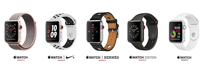 Apple Watch series 3 Modelle