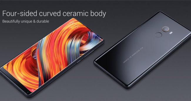 Xiaomi Mi Mix 2 mit Curved Display