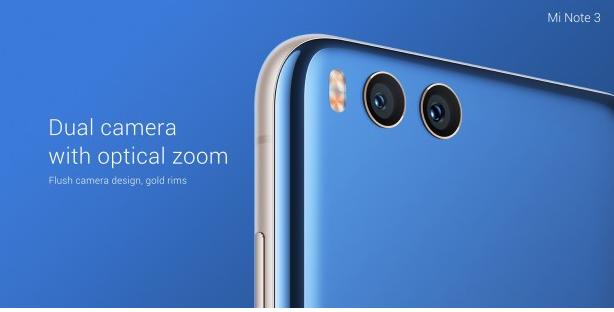 Xiaomi Mi Note 3 mit Dual-Kamera