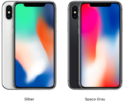 iPhone X in zwei Farben