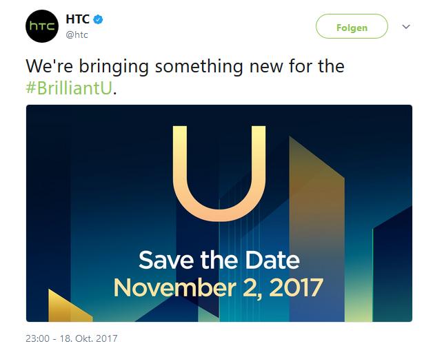HTC Event am 2 November Bild HTC über Twitter