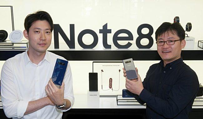 Note 9 Planung Cue Kim und BJ Kang Bild Samsung Newsroom