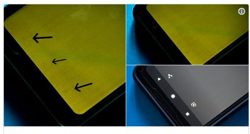Pixel 2 Display brennt ein Bild Justin Duino über Twitter