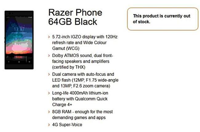 Razer Phone: Android-Smartphone für Gamer