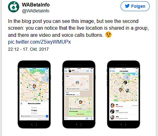 WhatsApp Video Gruppen Chats Bild WABetaInfo über Twitter