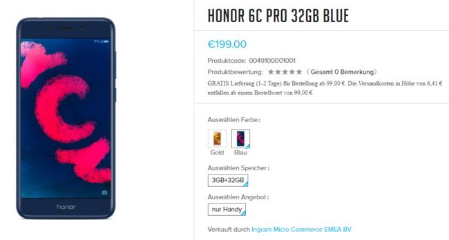 Honor 6C pro im HiHonor Store