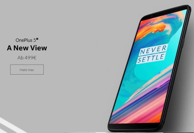 OnePlus 5T ab 499 Euro
