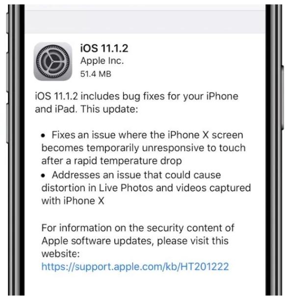 iOS 11.1.2 Update Bild 9to5Mac