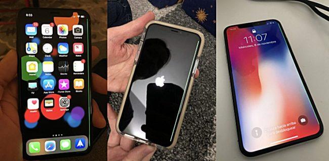 iPhone X grüber Display-Streifen Bild Techcrunch