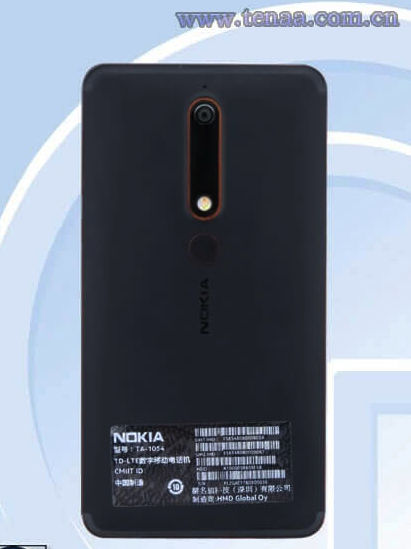 Nokia 6 laut TEENA Datenblatt