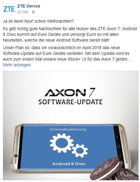 Axon 7 Oreo