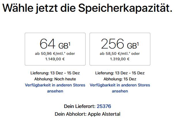 iPhone X Lieferzeiten Deutschland