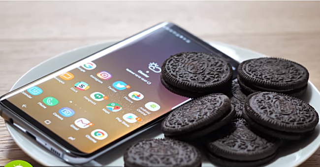 Galaxy S8 Android Oreo Bild YouTube