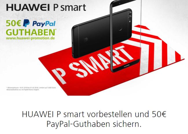 Huawei P smart 50 Euro sichern