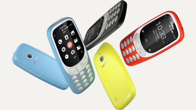 Nokia 3310 in drei versionen