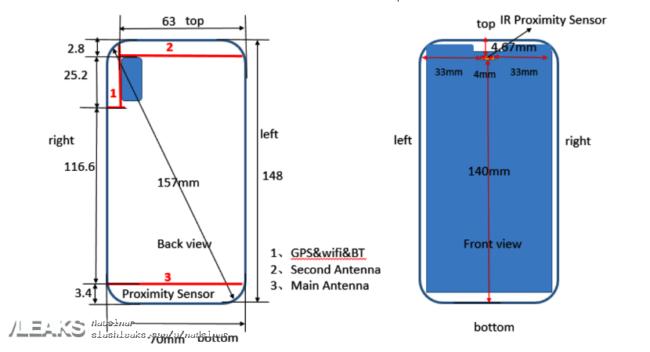 Bauzeichnung Huawei p20 lite Bild Slashleaks