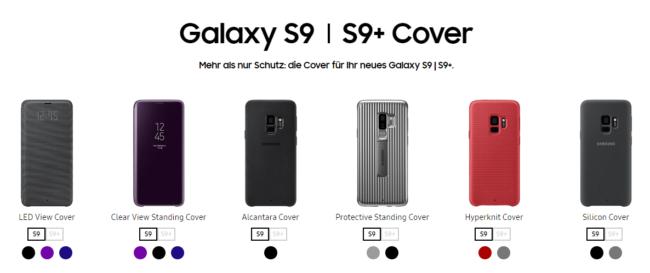 Galaxy S9 Cover