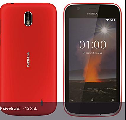 Mutmaßliches Nokia 1 Bild Evleaks über Twitter