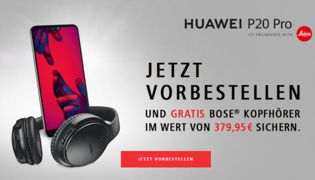 Huawei P20 Sonderaktion