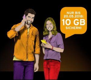 congstar verschenkt 10 GB an Prepaid-Kunden
