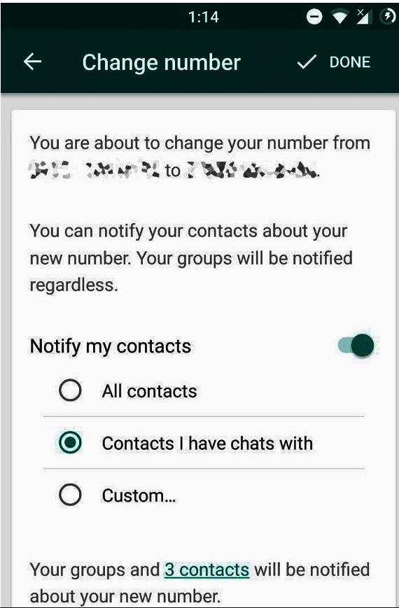 WhatsApp Nummer ändern Quelle WABetaInfo über Twitter