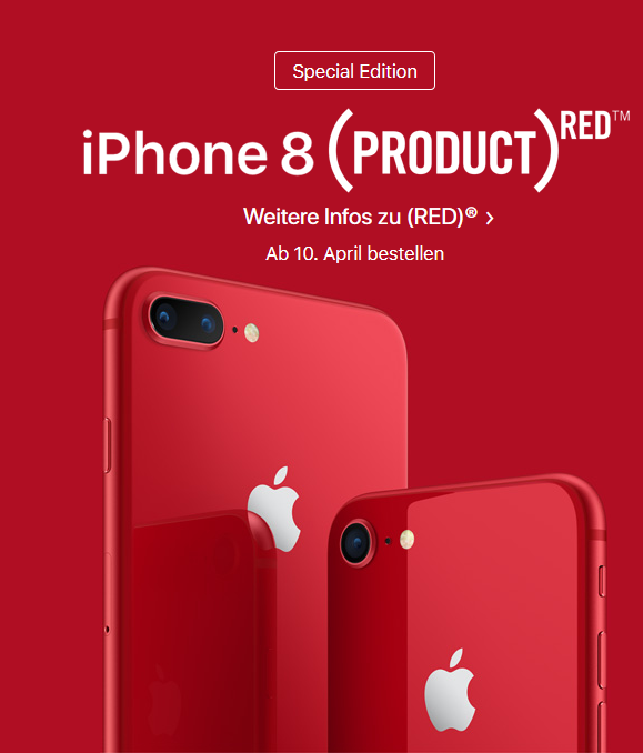 iPhone 8 in RED bei Apple
