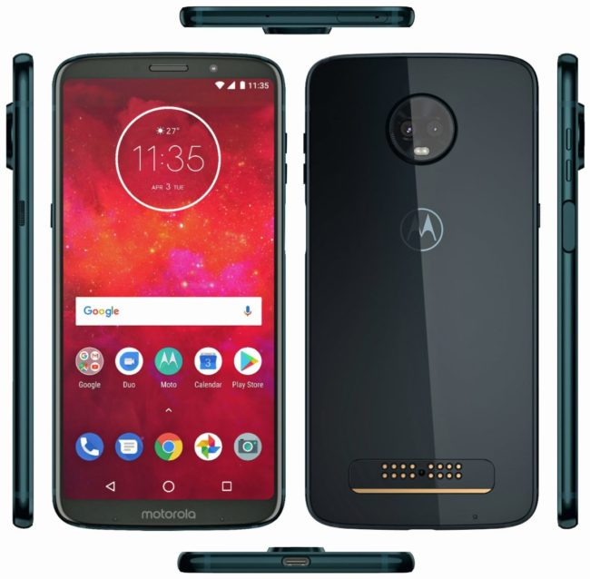 Angebliches Moto Z3 Play Bild SmartDroid