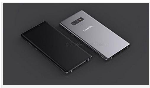 Galaxy Note 9 CAD vom Note 9 von OnLeaks und 91mobiles