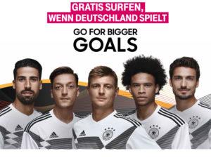 Telekom Fußball DayFlat: An WM-Spieltagen der deutschen Elf gratis surfen